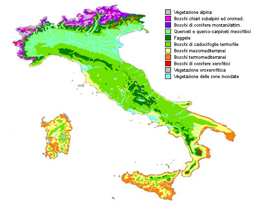 Zone Italy  city photos : Forest vegetation in view of some scenarios of climate change in Italy
