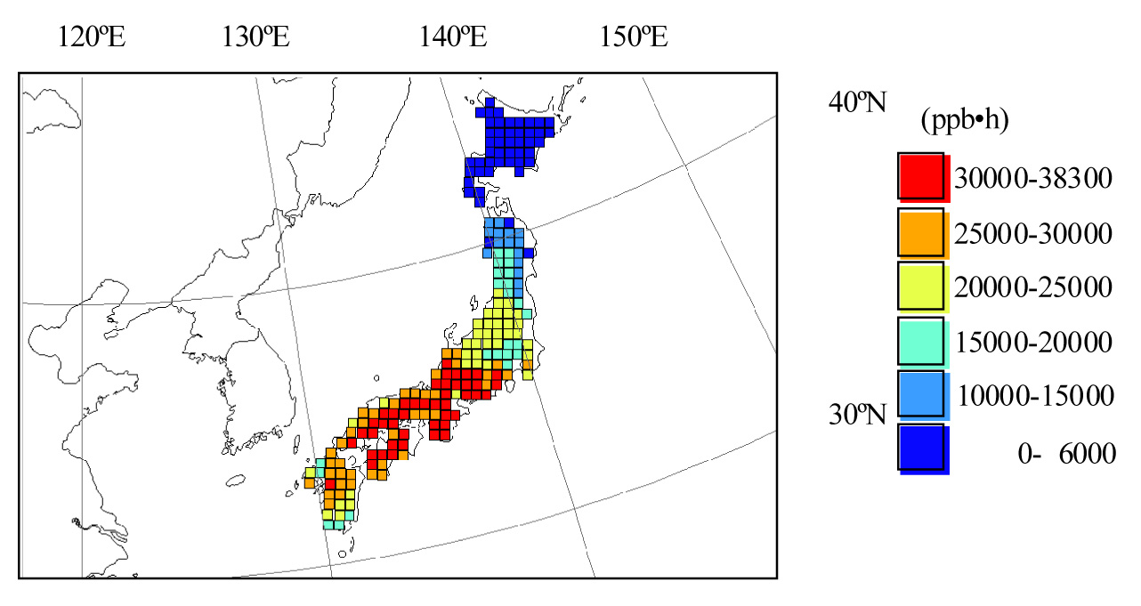 Hoshika Y Shimizu Y Omasa K A Comparison Between - Japan map data