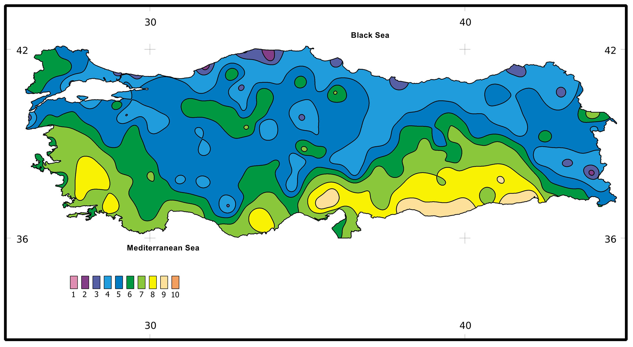 Yilmaz OY Tolunay D Distribution Of The Major Forest Tree - Us map winkler climate regions